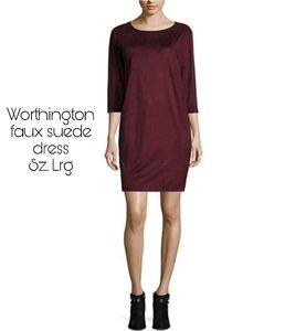 Worthington faux suede dress.  Sz Lrg